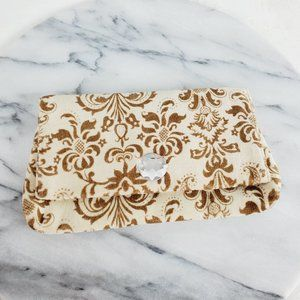 Chan Luu Velour Damask Small Clutch Bag